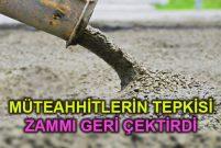 Çimento zammı yüzde 50'den 20'ye indirildi