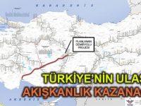 Kayseri, Nevşehir, Aksaray, Konya ve Antalya YHT hattı 607 km.