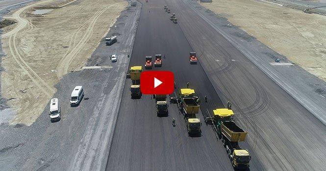 İstanbul Havalimanı'ndaki 3. pistin inşaatı devam ediyor