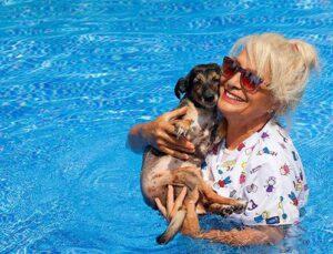 Ortaca'daki havuzlu villasını 85 köpeğe açtı