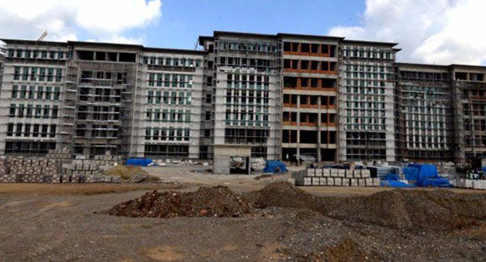 Adana'da yeni adliye binası inşaatı 8 aydır tamamen durdu
