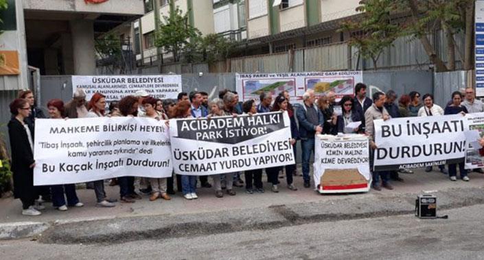 Aziz Hüdayi Vakfı'nın inşaatı mahkeme kararına karşın sürüyor