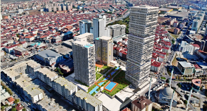 Gümüş Panorama projesinde 470 bin TL'ye 1+1