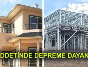 Prefabrik hafif çelik villa evlerde güvenli yaşam