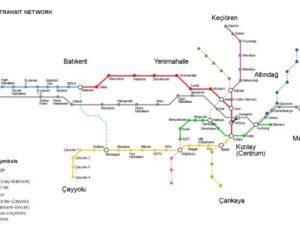 Başkentray Güzergah Haritası ve durakları