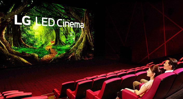 LG led sinema ekranı 14 metre boyunda 7 metre eninde