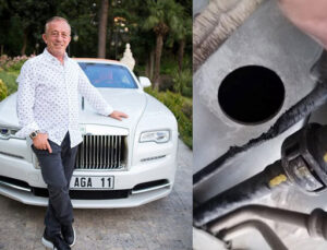 Ali Ağaoğlu'nun Rolls Royce Phantom'unu fareler kemirdi