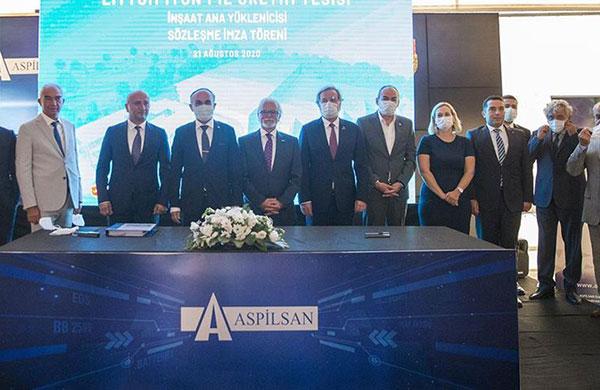 ASPİLSAN ilk lityum iyon pil üretim tesisini inşa ediyor