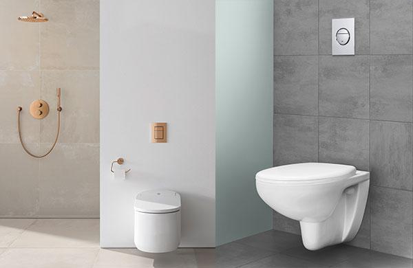 İnce gömme rezervuar küçük banyolara ferahlık kazandırıyor