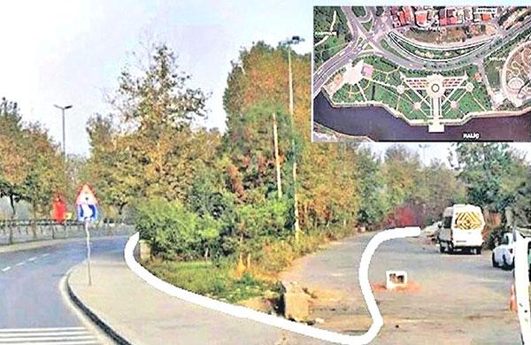 İki yol arasındaki park Milli Eğitim'e tahsis edildi