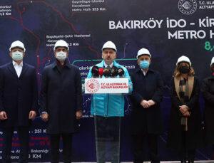 Bağcılar-Bakırköy Metro Hattı 2022'de hizmete giriyor