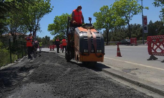 İBB yollardaki kara noktaları düzeltiyor