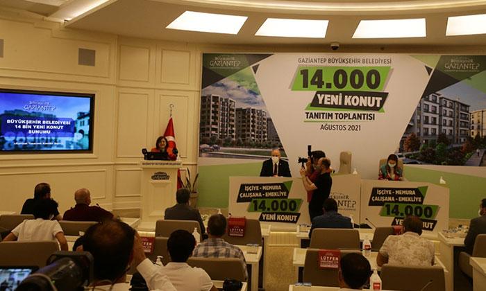 Gaziantep'te işçi, memur ve emekliler için 14 bin konut yapılacak