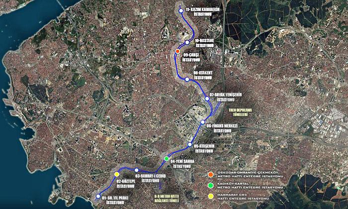 Ümraniye Ataşehir Göztepe Metrosu'nun yüzde 40'ı tamamlandı