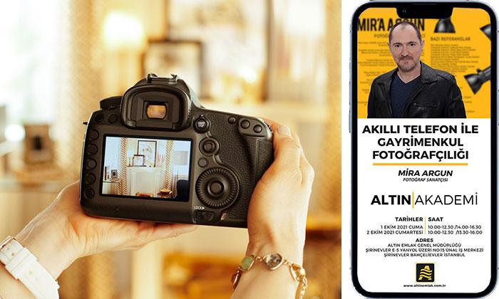 Emlakçılara telefonla uygulamalı fotoğrafçılık eğitimi
